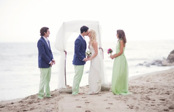 Beach Wedding Featured on Style Me Pretty...