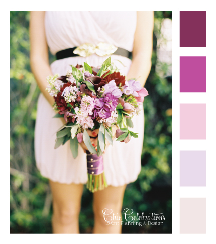 wedding bouquet color palette inspiration