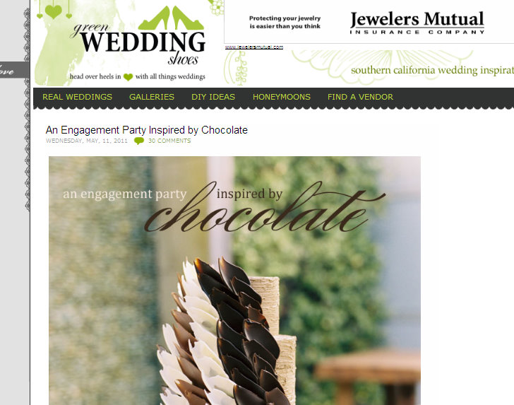 manhattan beach wedding venue, chocolate inspired party